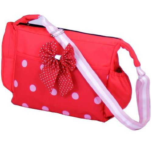 Luxury Changing Bag Complete with Changing Mat – Bow Dots 41bFGvd4OL