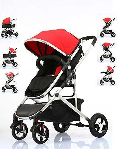 Fly Kids Pram Travel System 3 in 1 Combi Stroller Buggy Baby Child Pushchair Reverse or Forward facing Rain Cover Mosquito Net Bottle Holder Foldable with FootMuff 513CuGx48zL