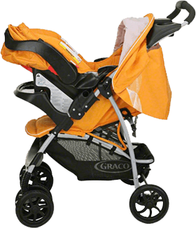 Yellow Graco Mirage Travel System