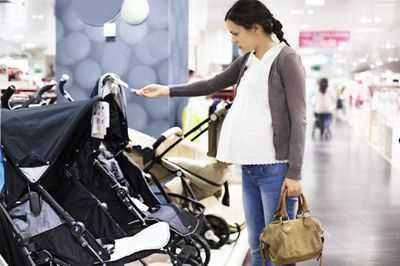 shopping for baby stroller