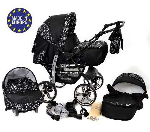 3-in-1 Travel System with Baby Pram, Car Seat, Pushchair & Accessories