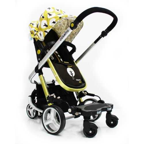 pushchair with buggy board built in