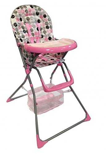 BABY ZONE NEW FOLDABLE MULTIFUNCTIONAL PINK BABY HIGHCHAIR WITH 2 FREE BIBS 41gs5gX4cdL
