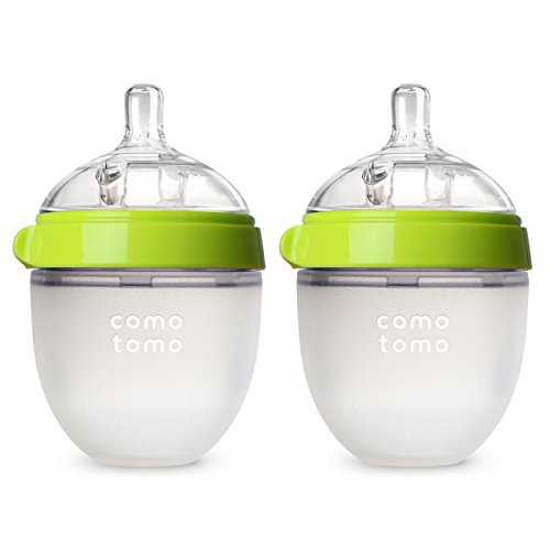 Comotomo Natural Feel Baby Bottle (150 ml, Green, Pack of 2) 41h25cMsW7L