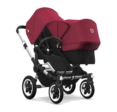 Bugaboo Donkey 2 Duo, 2 in 1 Pram and Double Pushchair for Baby and Toddler, Black