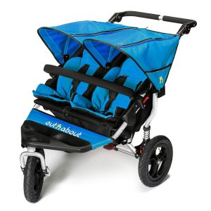 Out 'n' About Nipper Double v4 Stroller Lagoon Blue